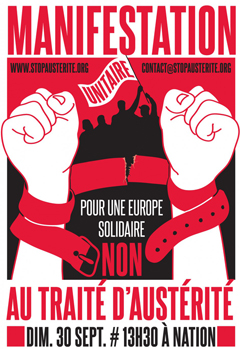 """France: """"No to Permanent Austerity  Reject the Budgetary"""